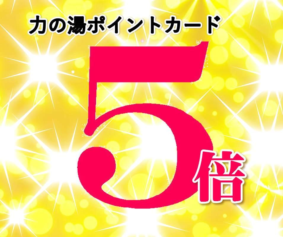 伏見力の湯創業祭第3弾!ポイント5倍!